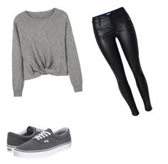"""Simple"" by yarytorres on Polyvore featuring MANGO y Vans"