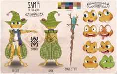 Samm the Frog Wizard - Updated Reference Sheet by Kamezdov