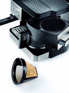 DeLonghi BC0330T Combination Drip Coffee and Espresso Machine - Gourmet Kitchen Tools