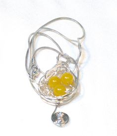 Yellow Wire Wrapped Orbit #Necklace or Blue by lindab142 on Etsy, $17.50 on #sale