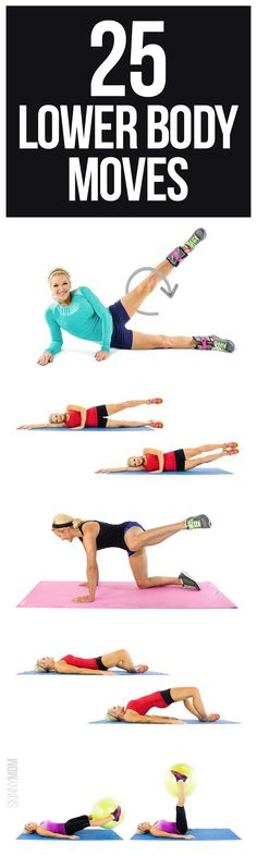 Get tighter legs and booty with these exercises. #weightlossmotivation