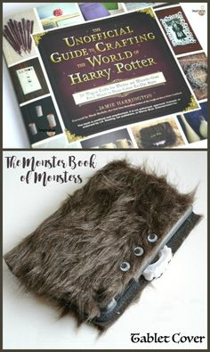 Harry Potter Monster Book of Monsters Tablet Case Craft -- from the new Unofficial Guide to Crafting the World of Harry Potter book which has the BEST craft ideas in it!!