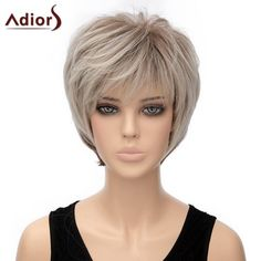 Fluffy Short Straight Capless Two-Tone Ombre Synthetic Adiors Wig For Women #>=#>=#>=#>=#> Click on the pin to check out discount price, color, size, shipping, etc. Save and like it!