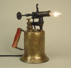 Vintage Electrified Blow Torch by Conant Metal & Light.