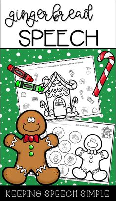 Looking for some quick, fun, NO PREP worksheets to get you through the busy holiday season? Then click here! These picture supported, gingerbread themed worksheets will keep your students engaged during mixed groups. Perfect for preschool and early elementary students!