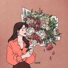 Cute Cartoon Wallpapers, Cute Wallpaper Backgrounds, Aesthetic Anime, Aesthetic Art, Cute Couple Art, Graphic Artwork, Korean Art, Anime Art Girl, Cute Illustration