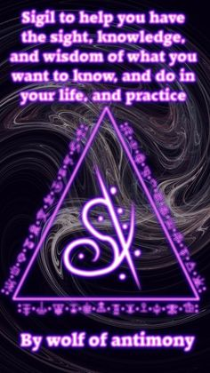Sigil to help you have the sight, knowledge, and wisdom of what you want to know and do in your life and practice Magick Book, Wiccan Spell Book, Magick Spells, Wiccan Symbols, Magic Symbols, Symbols And Meanings, Witchcraft Spells For Beginners, Knowledge And Wisdom, Practical Magic