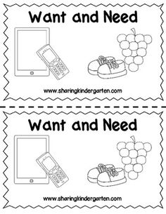 Want and Need Reader http://www.teacherspayteachers.com/Product/Want-and-Need-Reader-1021104