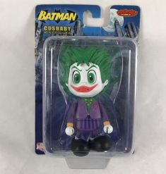 """Batman Cosbaby The Joker Action Figure 2009 DC Direct Hot Toy Limited Edition 3""""  