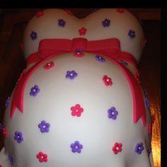 Pregnant belly cake...