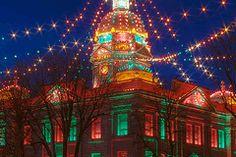 Minden Nebraska Courthouse Christmas City