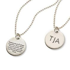 Promise Me Necklace - Engraved