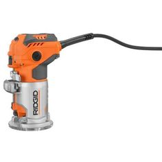 Ridgid 5 5 amp corded compact fixed base router power for Home depot herramientas