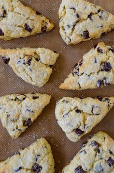 Bake up a better breakfast with a quick and easy recipe for chocolate chunk scones that are light and tender with a crunchy sugar crust.