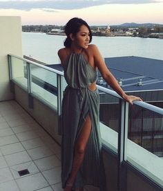 cutout maxi dresses for the spring/summer