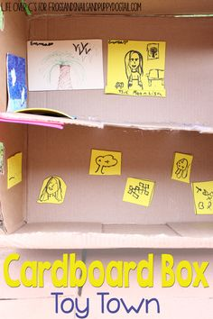 Set the kids loose with some craft materials and a cardboard box and see what they come up with! This awesome cardboard box museum and hotel are perfect for all the kids' little toys!