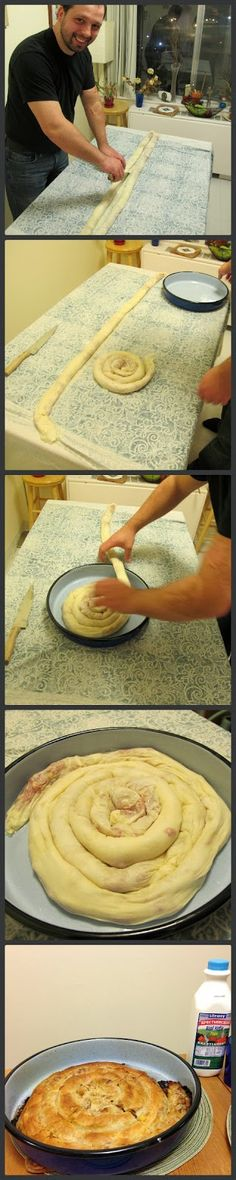 World Traveler Recipes: Home Made Bosnian Pita: Burek and Sirnica (Phyllo Pies F .World Traveler Recipes: Home Made Bosnian Pita: Burek and Sirnica (Phyllo Pies Filled With Meat and Cheese) Macedonian food breadsGrandma's Albanian Cabbage Albanian Recipes, Bosnian Recipes, Croatian Recipes, Bosnian Burek Recipe, Bosnian Food, Serbian Food, European Dishes, Macedonian Food, Meat And Cheese