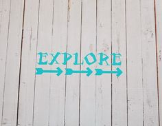 Vinyl Wall Decal Explore by Msapple on Etsy