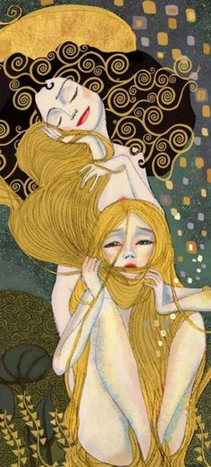 Rapunzel: Captivating Illustrations of Classic Fairy Tales From the Brothers Grimm.influenced by Klimt Gustav Klimt, Art Klimt, Art Disney, Disney Kunst, Art And Illustration, Fairy Tale Illustrations, Fantasy Kunst, Fantasy Art, Art Amour
