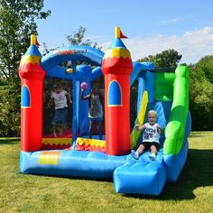 Bounce House Birthday, Baby Boy Birthday, 3rd Birthday, Birthday Ideas, Inflatable Bounce House, Inflatable Bouncers, Bouncy House, Bouncy Castle, Bounce House With Slide
