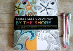 Relax and Unwind after a long day with the Stress Less Coloring By The Shore - Adult Coloring Book - Review
