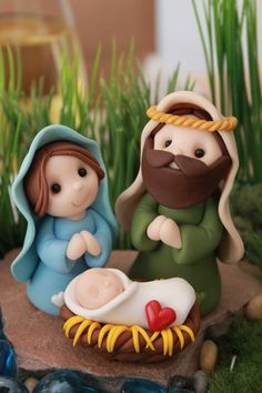 Miniature Nativity Set Polymer Clay Nativity by GnomeWoods                                                                                                                                                                                 More