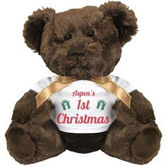 Its Aspens 1st Christmas Present Small Plush Teddy Bear *** Read more reviews of the product by visiting the link on the image.