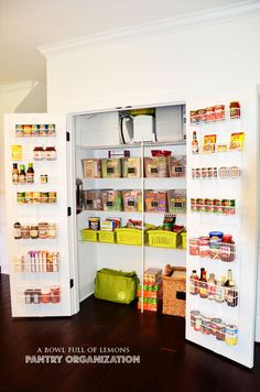 organized pantry baskets