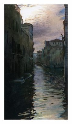 Venice, Morning Sky by Stan Miller Watercolor Artists, Watercolor Paintings, Venice City, Venice Painting, Running In The Rain, Morning Sky, Water Art, Water Reflections, Amazing Drawings