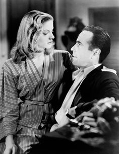 "Lauren Bacall and Humphrey Bogart... ""You know how to whistle don't you?"""