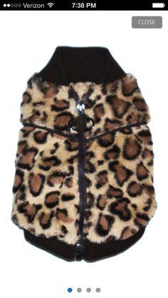 Leopard vest , doggie
