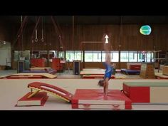 ▶ Excerpt of the training on the back handspring on the floor: GymneoTV - YouTube