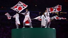 """2016 Summer Olympics Closing Ceremony - Dancers perform during the """"Love Sport Tokyo 2020"""" segment."""