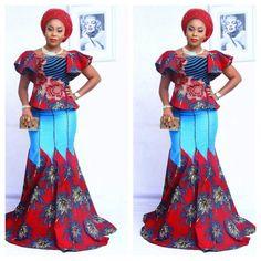 Unique Ankara Styles For Beautiful Ladies Ankara Styles and Aso Ebi Styles 2020 Latest Ankara Dresses, Ankara Dress Styles, African Print Dresses, African Print Fashion, African Fashion Dresses, African Attire, African Wear, African Women, African Dress