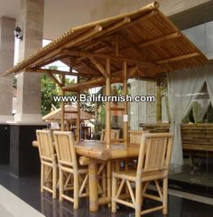 Bamboo Furniture Garden Dining Table