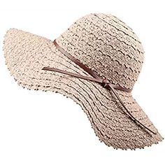 beach hats for women. Summer Beach Sun Hats For Women - FURTALK UPF Woman  Foldable Floppy Travel Packable UV ... ca54d5a7489b