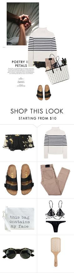 """""""pyjama party - birthday suit edition"""" by rosa-loves-skittles ❤ liked on Polyvore featuring Carine Gilson, Topshop Unique, Philip Kingsley and MCM"""