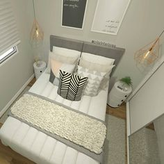 A imagem pode conter: área interna Room Interior, Interior Design Living Room, Tiny Bedroom Design, Bedroom Furniture, Bedroom Decor, Bedroom Layouts, Fashion Room, Dream Rooms, Girls Bedroom