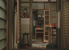 Ohayô (a.k.a. Good Morning) (Yasujiro Ozu, 1959): empty spaces  Happy birthday and death anniversary, Yasujiro Ozu! (12th december 1909 - 12th december 1963)