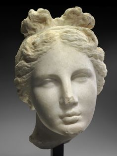 """Head of Aphrodite (""""The Bartlett Head"""" ) Greek Late Classical or Early Hellenistic Period about B. Place of Manufacture: Greece, Attica, Athens Sculpture Head, Roman Sculpture, Ancient Greek Art, Ancient History, Ancient Greece, Statues, Kunsthistorisches Museum, Hellenistic Period, Greek Gods And Goddesses"""