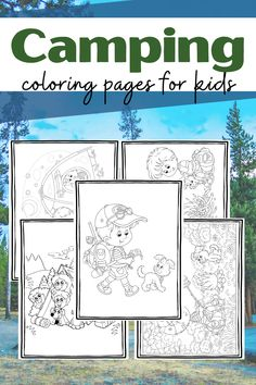 These camping coloring pages are sure to get your kids excited about your upcoming campout or camping preschool theme. Preschool Lesson Plans, Preschool Books, Free Preschool, Preschool Printables, Camping Coloring Pages, Preschool Coloring Pages, Coloring Pages For Kids, Bubble Activities, Outdoor Activities For Kids
