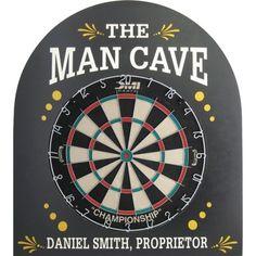Man Cave Personalized Dartboard Backboard