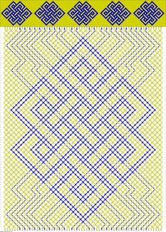 Friendship bracelet pattern 72976 new Bead Loom Patterns, Macrame Patterns, Beading Patterns, Friendship Bracelets Designs, Bracelet Designs, Card Weaving, Jewelry Knots, Pony Beads, Macrame Bracelets