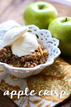 Classic Apple Crisp recipe from Our Best Bites--best ever!