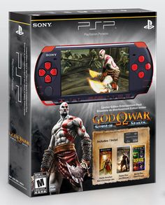 Game Console PlayStation Portable Limited Edition God of War Ghost of Sparta Entertainment Pack - Red/Black Console Voucher Code, Mythological Monsters, M&m Game, Custom Consoles, Blacked Videos, Playstation Portable, New Gods, God Of War, Entertainment