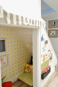 Reading nook ideas under stairs here i have compiled reading nook ideas in under the stairs . reading nook ideas under stairs Under Stairs Playroom, Under Stairs Playhouse, Space Under Stairs, Basement Stairs, Basement Ideas, Basement Decorating, Walkout Basement, Basement Play Area, Decorating Ideas
