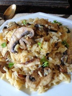 Cooking Pinterest: Mushroom Parmesan Rice Recipe