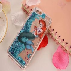 Ariel The Little Mermaid Liquid Glitter iPhone Case