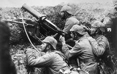 Soldados alemanes durante la I Guerra Mundial.