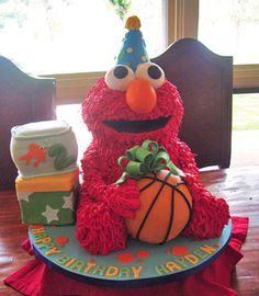 Elmo Cake - something like this would be perfect!